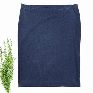 H&M Basic Navy Pencil Skirt